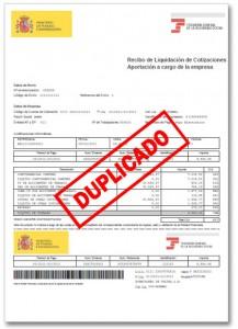 Obtención de duplicado de recibos de liquidación