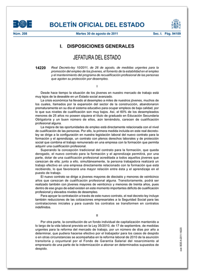 Nueva Regulacion del contrato para la formación y el aprendizaje