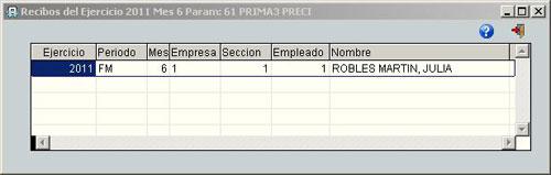 Auditoría parametros fijos