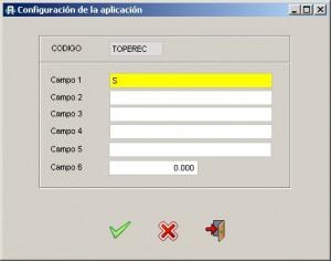 Configuracion aplicacion