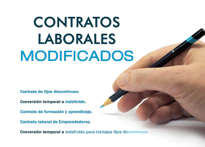 Contratos laborales 2013 modificados