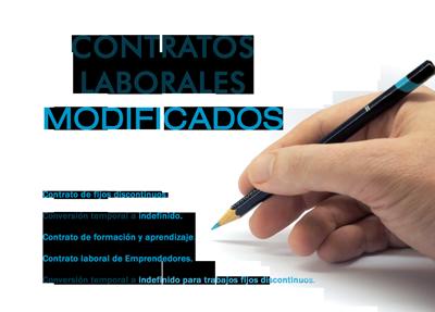 Contratos laborales 2012 modificados