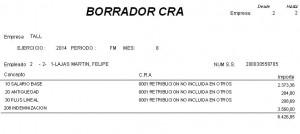 Informe fichero CRA (Concepto Retributivos Abonados)