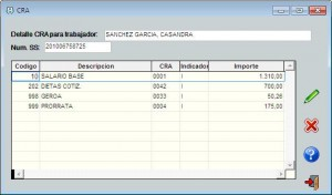 Modificación fichero CRA