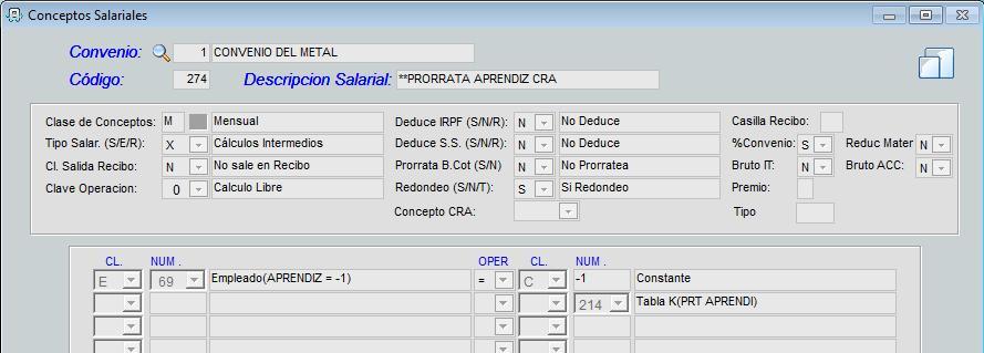 Proceso de incorporación de la prorrata de trabajadores de formación y aprendizaje en fichero CRA.